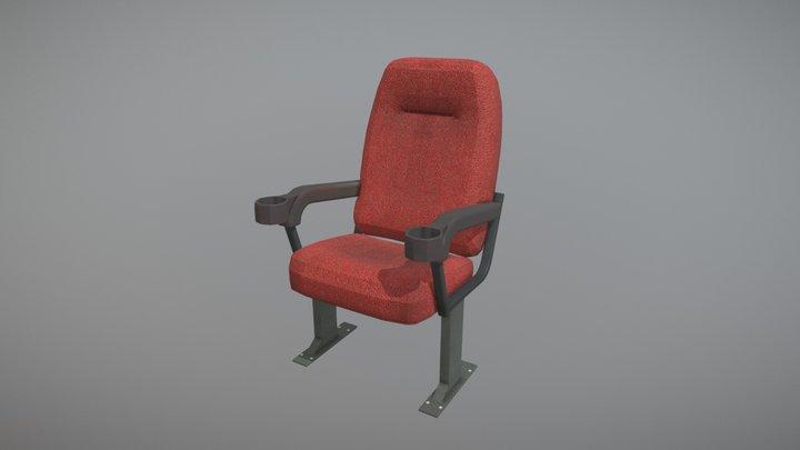 Movie Cinema Chair 3D Model