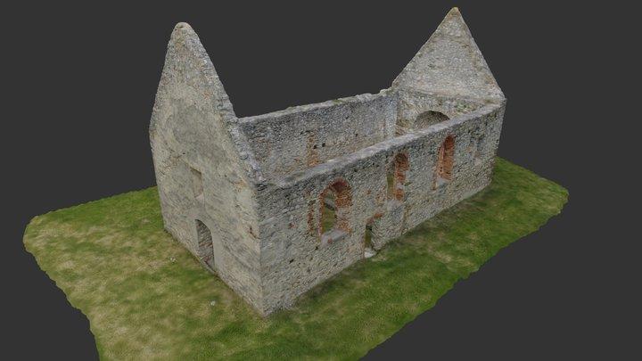 kostol Haluzice 3D Model