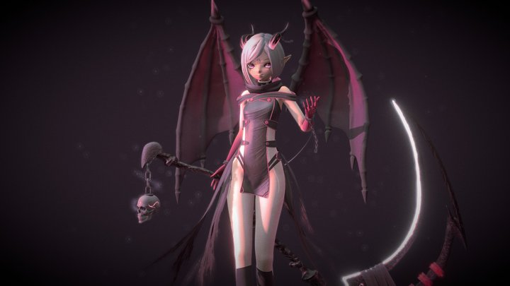 Dragon Girl 3D Model
