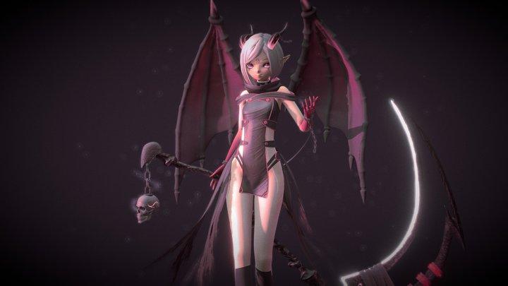 Dragon Girl 3D Model