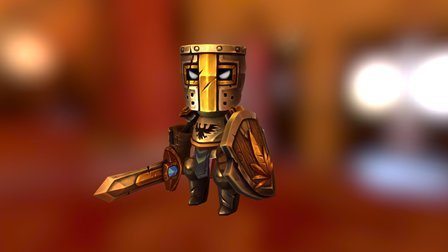 Tin Knight 02 PBR 3D Model