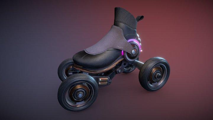 Sci-Fi Futuristic Rollerskate 3D Model