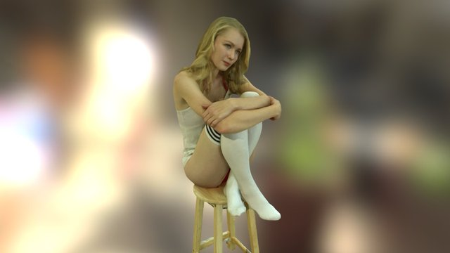 Anastasia Pose3 3D Model