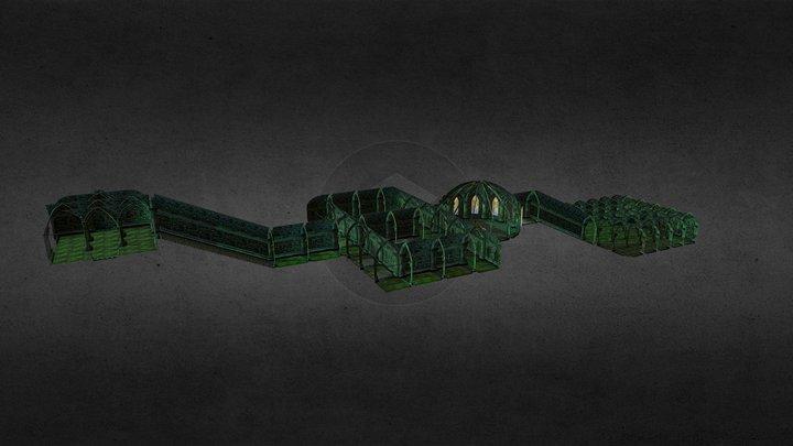 Procedural Dungeon 3D Model