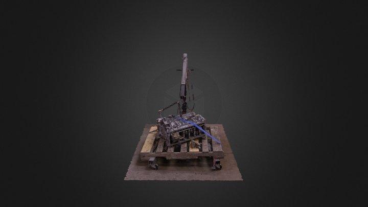 Car Engine on Crate #TechScanChallange 3D Model