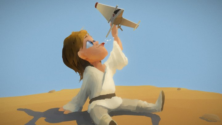 Young Luke 3D Model