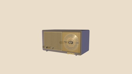 Phillips Radio 3D Model