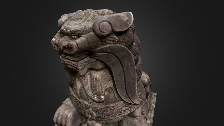 stone_chinese_lion_small 3D Model