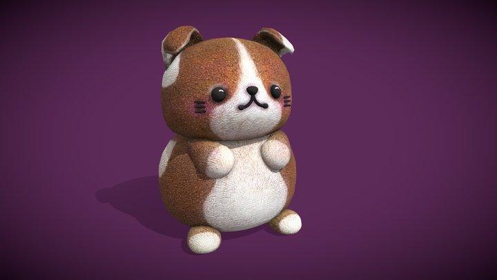Cute Chubby Dog 3D Model
