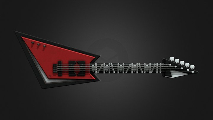 Bonnie's Guitar   Help Wanted 3D Model