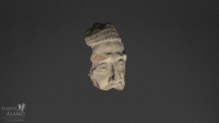 Fragmento de antefija 3D Model
