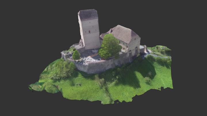 3D-Modell Schloss Sargans - Castle Sargans 3D Model