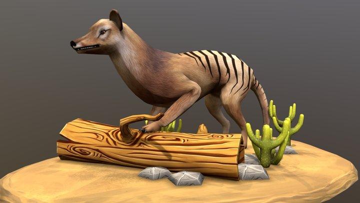 Tasmania Tiger 3D Model