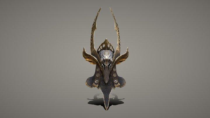 Black Winged Valkyrie - Helm 3D Model