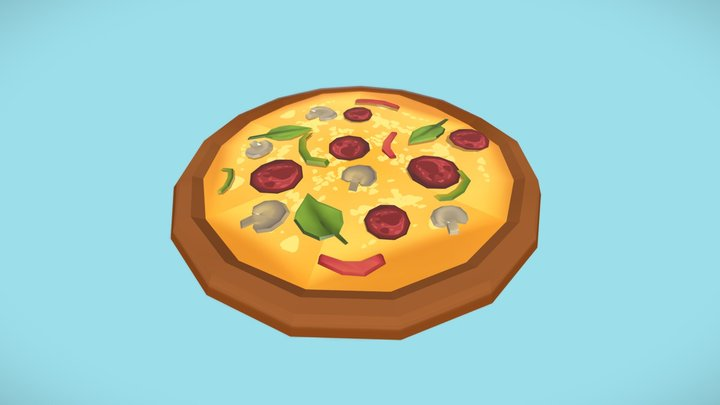A Little Bit of Everything Pizza 3D Model
