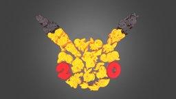 Pokémon 20th Aniversary Logo 3D Model