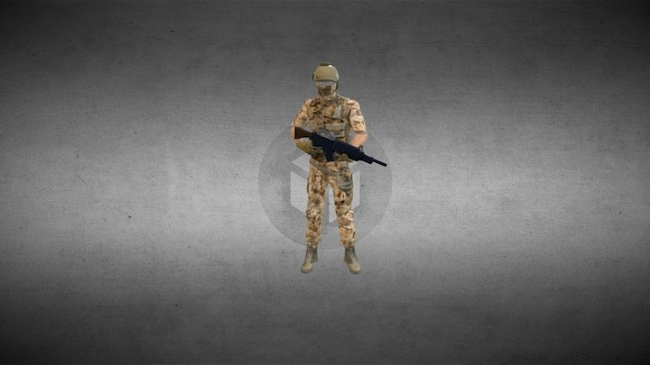 Swat Rifle Anim 3D Model