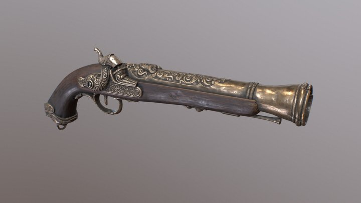 Pirate Gun 3D Model