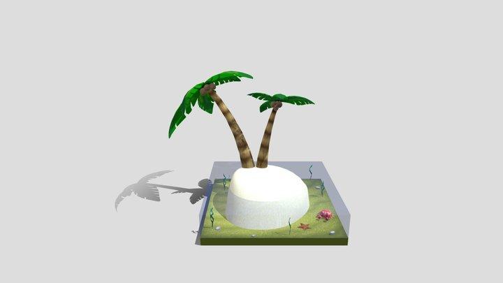 Desert Island 3D Model