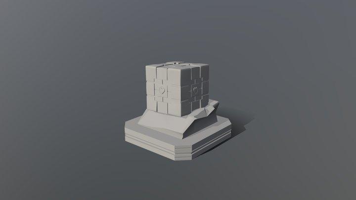 Low poly companion cube model. 3D Model