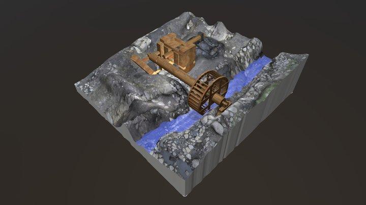 Wasserrad 3D Model