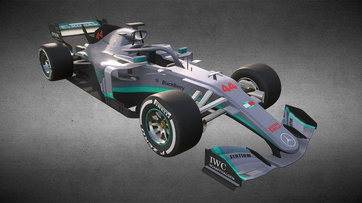 Mercedes F1 RacingCar Model 3D Model