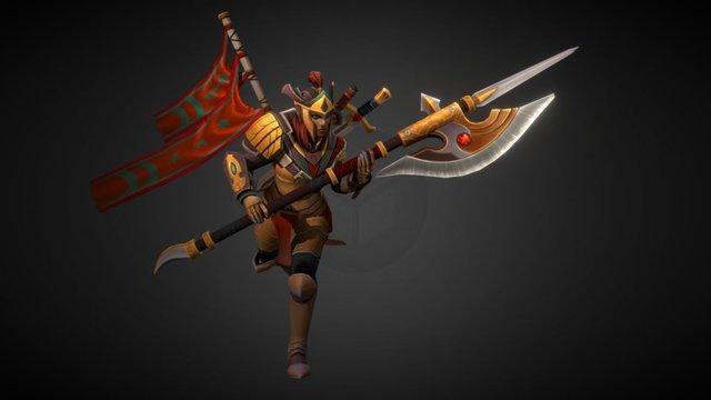 The Wandering Warlord - Dota 2 Legion Commander 3D Model