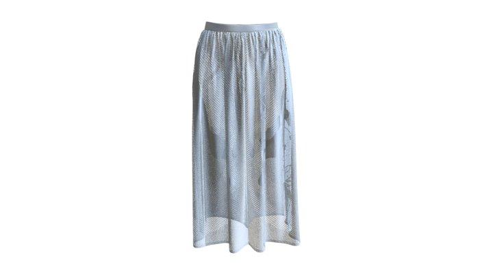 BRIA: Blue Skirt 3D Model