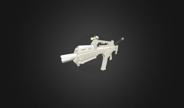 High Poly G36C Assault Rifle 3D Model