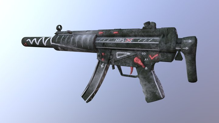 CS20 | MP5-SD Old School 3D Model