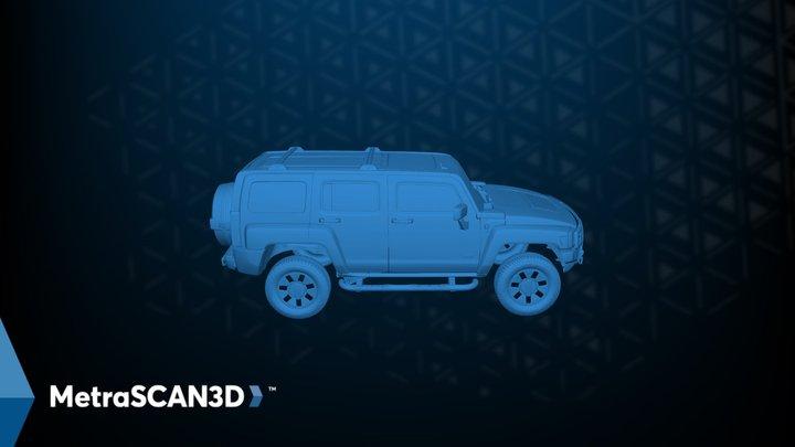 Hummer exterior scanned with MetraSCAN 3D 3D Model
