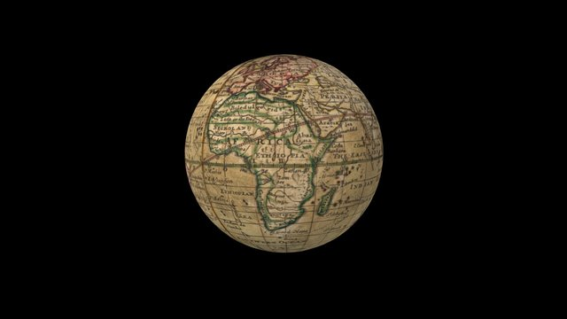 A correct globe with the new discoveries 3D Model