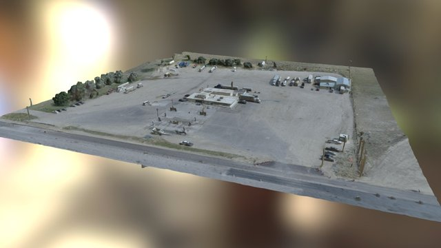 Broken Wheel Truck Stop, Douglas WY 3D Model