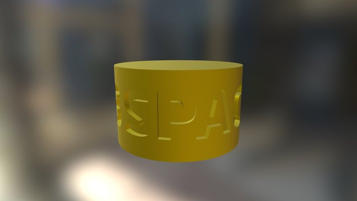 3space Cylinder Round 3D Model