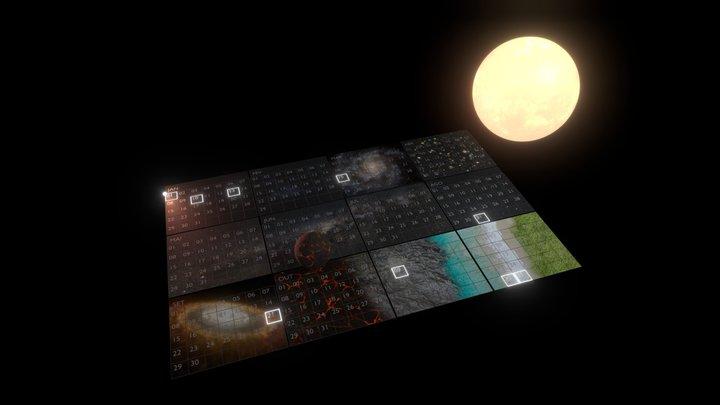 The Cosmic Calendar V.1 3D Model