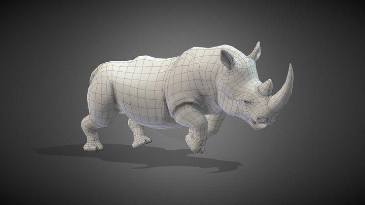 Rhinoceros Base Mesh 3D Model