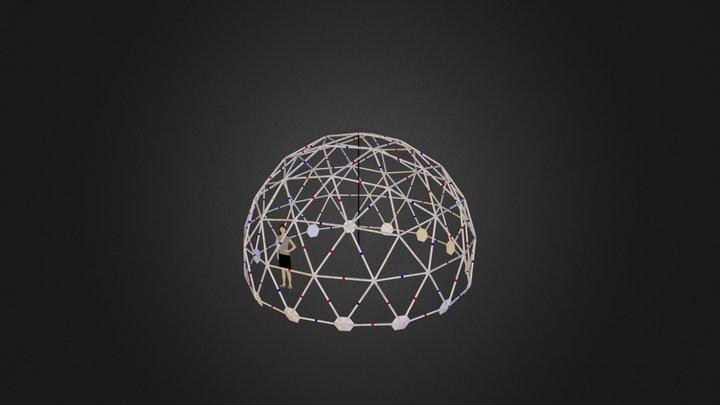 3V Geodesic Dome 3D Model