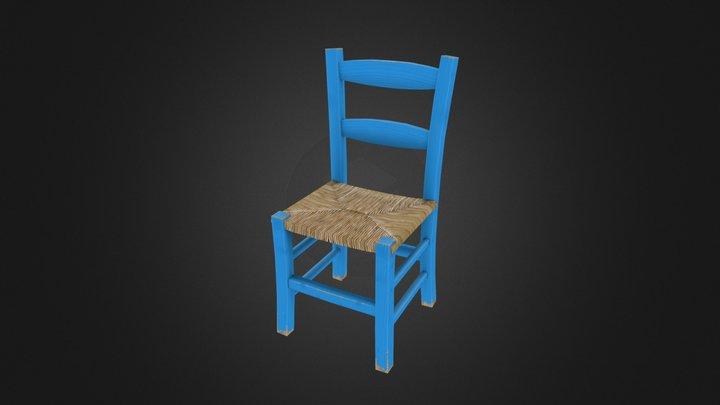 Greek wood chair 3D Model