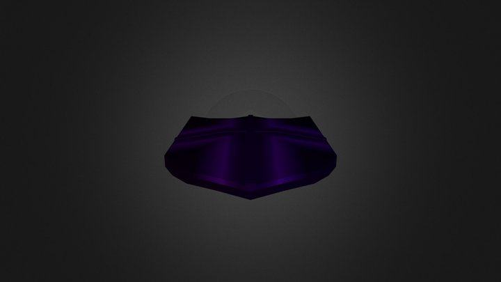 1st Year - Low Poly Shield 3D Model