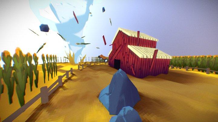 Farm Disaster 3D Model