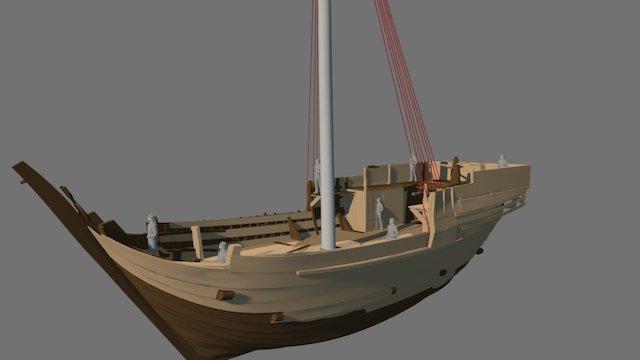 Bremen Cog 1380 -1980 Reconstruction 3D Model