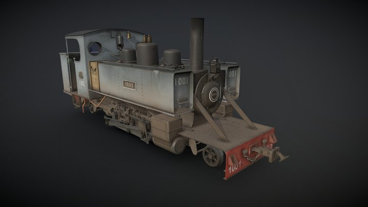 WWI Trench Locomotive 3D Model