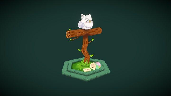 Feh the Owl 3D Model