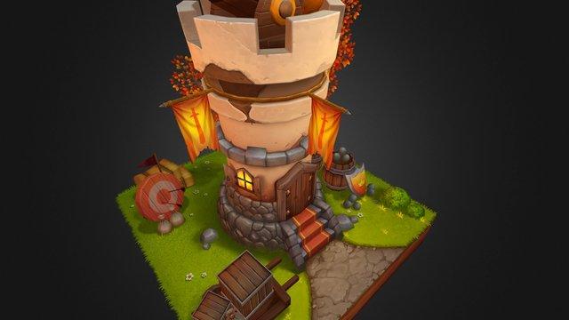 cannon castle 3D Model