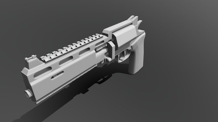 RSH-12 -- baked low-poly 3/3 3D Model