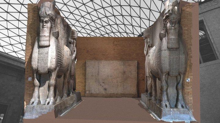 SARGON II KHORSABAD STATUES BRITISH MUSEUM 2020 3D Model