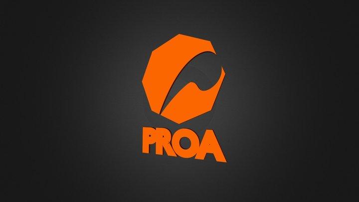 PROA_Logo(Orange)Solid 3D Model