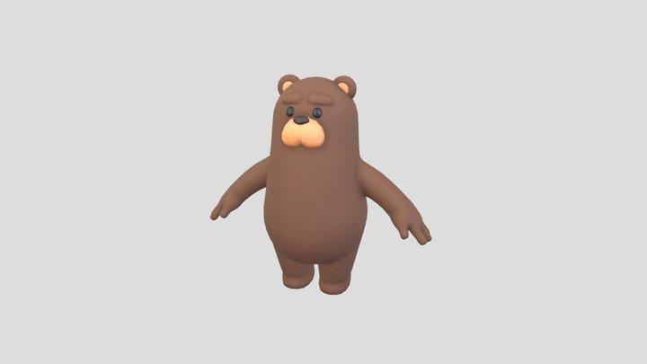 Brown Bear Character 3D Model