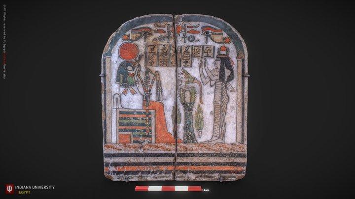 Stela of the Woman Takhenemet 3D Model