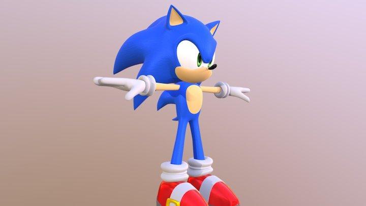 Sonic The Hedgehog 3D Model